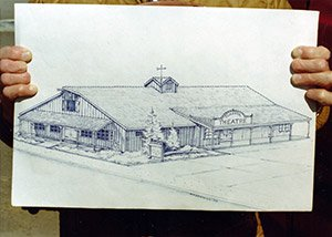 Original sketch of Coaster Theatre by Ray Watkins 1972